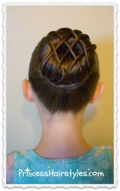 """hot cross bun"" hairstyle: Finally something to do with all of Kinley's extra hair after we pin up the bun!"