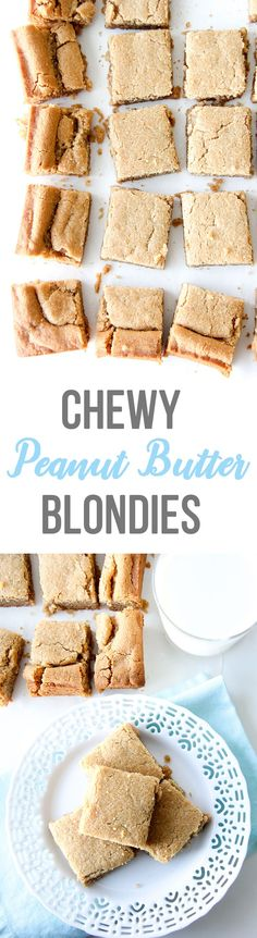 Chewy Peanut Butter Blondies