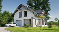 Z Charakterem 2 - panorama Simple House Design, Home Fashion, Bungalow, Building A House, Facade, Exterior, Mansions, House Styles, Outdoor Decor