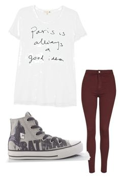 """""""Untitled #45"""" by marissa-moore-i on Polyvore featuring Sundry, Topshop and Converse"""