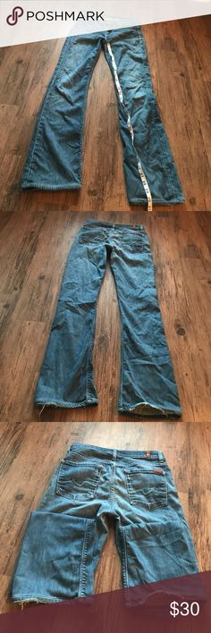 7 for All mankind Size 27 (2900) flaw on bottom 7 For All Mankind Jeans Straight Leg