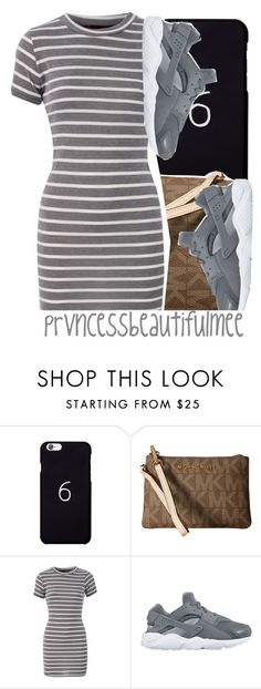 """"" by prvncessbeautifulmee ❤ liked on Polyvore featuring October's Very Own, MICHAEL Michael Kors and NIKE"