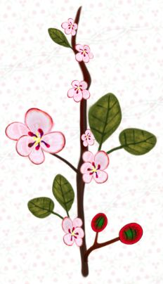Your place to buy and sell all things handmade Cherry Blossom Vector, Cherry Blossom Flowers, Scrapbook Borders, Frame Template, Heart Frame, Borders And Frames, Vector Clipart, Flowering Trees, Tree Branches