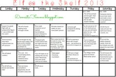 Over 50 Elf On The Shelf Ideas PLUS a Calendar Download  Printables {Domestic Femme} #ElfOnTheShelf #ElfOnTheShelfIdeas #Idea #Nice #Naughty #Good #Bad #Boys #Girls #Printable #Calendars #Picture #Pictures #Photo #Photos #Coloring #Christmas #Holiday #Holidays #Traditions #Tradition #Elves #Activity #Activities #Kids #Minecraft #Creeper #Funny #Mischievous #A #Kids #Toddlers