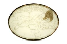 Melanie Bilenker. Brooch: Chocolate, 2008. Hair, resin, pigment, gold, ebony. 9.5 x 1 x 7 cm