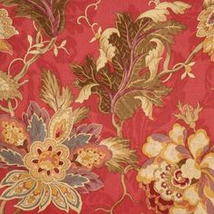 Shop the Floral Fabric at Perigold, home to the design world's best furnishings for every style and space. Floral Upholstery Fabric, Drapery Fabric, Floral Fabric, Curtains, Asian Fabric, Colorful Flowers, Flower Colors, Tapestry Fabric, Purple Fabric