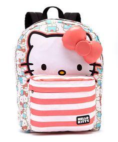 a05ec43eaf40 Blue   Pink Hello Kitty Stripe Backpack