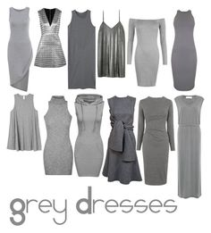 """""""Grey Dresses"""" by amylovesptx ❤ liked on Polyvore featuring Alice + Olivia, MANGO, WearAll, Monrow, Whistles, IRO and RVCA"""