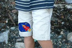 Spaceship iron-on patch for kids clothes