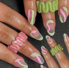 Minimalist Nails, Nail Swag, Aycrlic Nails, Hair And Nails, Neon Nails, Nail Manicure, Nagellack Design, Nail Jewelry, Jewellery
