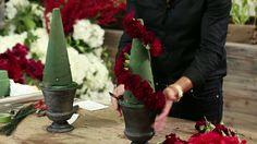Carnation Trees Floral Arrangement DIY Tutorial