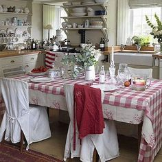 Christina's  kitchen in her cottage in Bath