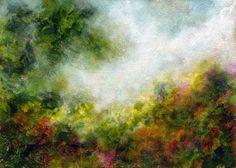 Where Angels Dwell - Landscape Garden Painting, Original Healing Art by Marina Petro -- Marina Petro