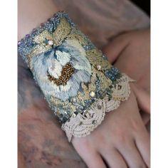 Embroidered Art Noveau cuff