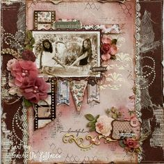 Album Vintage, Vintage Scrapbook, Wedding Scrapbook, Handmade Scrapbook, Scrapbook Page Layouts, Scrapbook Albums, Scrapbook Cards, Picture Scrapbook, Heritage Scrapbooking