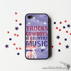 Trucks, Cowboys & Country Music Australia Phone Case.