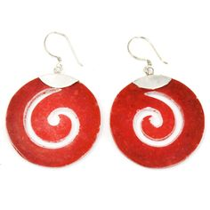 Ohrringe aus 925 Silber-Schneckenförmig Coral Earrings, 925 Silver Earrings, Drop Earrings, Scroll Design, Talisman, Bath Bombs, Incense, Aromatherapy Products, Fragrance