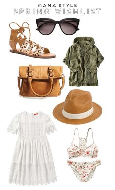 Spring Wishlist // Mama Style (Little Baby Garvin) Post Pregnancy Clothes, Pregnancy Outfits, Military Poncho, Garvin And Co, Little Baby Garvin, White Babydoll Dress, Foldover Bag, White Bikinis, Floral Bikini