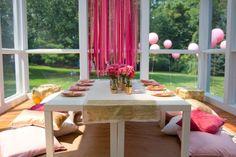 la decoración de mis mesas: Una mesa en tonos rosas