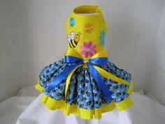 Dog Dress  XS  Honey Bee    Nina's Couture by NinasCoutureCloset, $55.00