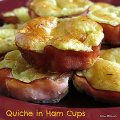 Quiche in Ham Cups - These are sooo easy to make! #lowcarb