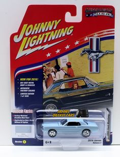 1:64 JOHNNY LIGHTNING 2016 MUSCLE CARS USA 1965 FORD MUSTANG - Arcadian Blue #JohnnyLightning #Ford