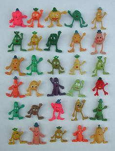 I remember these! vintage munch bunch pen toppers fruit veg pencil toppers 1970s fruit veg toppers in Toys & Games, Vintage & Classic Toys, Other Vintage & Classic Toys | eBay