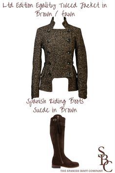 Liberty Freedom Tweed Jacket teamed with SRB Suede Brown boots with Leather sole. Perfect for a weekend in the country.
