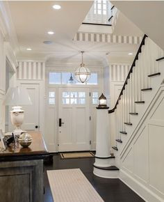 nautical entry with lighthouse staircase