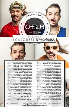 """NEWS: The electro-pop duo, Cherub, have announced the """"The Blow'd Tour."""" On select dates, they will be joined by Carousel and ProbCause. Also, select dates are a part of House of Blue's """"Ones to Watch"""" tour. You can check out the dates and details at http://digtb.us/blowdtour"""