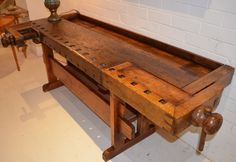 A mid 19th Century Work Bench