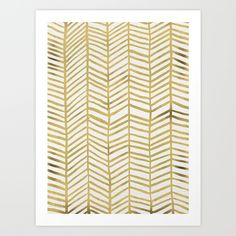 Buy Gold Herringbone by Cat Coquillette as a high quality Art Print. Worldwide shipping available at Society6.com. Just one of millions of products…