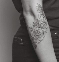 Imagen de tattoo, flowers, and rose