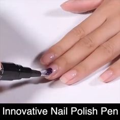One-Step Easy Gel Nail Polish Pen The simplest and easiest way to get great looking nails at a fraction of the cost of going to the salon. Pen-shaped design: Portable & easy to paint nails precisely T Nail Polish Pens, Nail Art Pen, Nail Polish Colors, Nail Polish Hacks, Fast Drying Nail Polish, Nail Polish Dry Faster, Types Of Nail Polish, Gel Nails At Home, Uv Gel Nails
