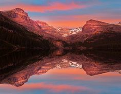 Kevin McNeal's photostream via flickr, please keep credit with pic. Lake O'Hara Sunset, Canadian Rockies