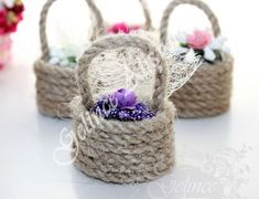 Hasır Sepette Lav… Lavender in wicker basket, wedding candy, lavender in wicker basket, wicker, wicker … Tie Dye Crafts, Rope Crafts, Fun Crafts, Diy And Crafts, Crafts For Kids, Wedding Candy, Wedding Gifts, Hobbies And Crafts, Crafts To Sell