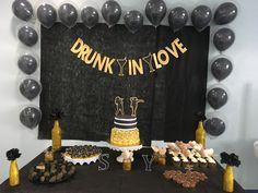 Black and gold Beyoncé bridal shower Chá Bar da Beyoncé preto e dourado