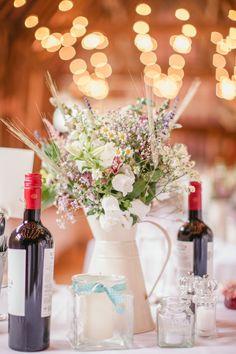 Western Wedding Ideas - Table Centerpieces   Meg and Tom's English Countryside Wedding