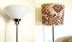 Torchiere Lamp to Drum Shade Floor Lamp - Before and After