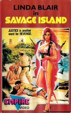 "vhs-ninja: ""Savage Island by Nicholas Beardsley. 1980s Horror Movies, Horror Movie Posters, Disney Movies To Watch, Movies To Watch Free, Classic Film Noir, Classic Films, Good Girl, Vintage Movies, Vintage Posters"