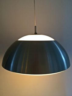 Brushed steel and frosted glass pendant by Nordisk Solar by deerstedt. Explore more products on http://deerstedt.etsy.com