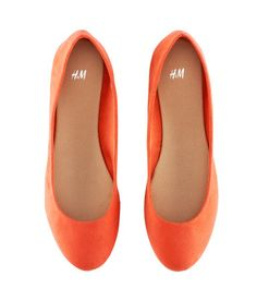 Orange H Flats...comes in all sorts of colors. wonder if they are comfortable?