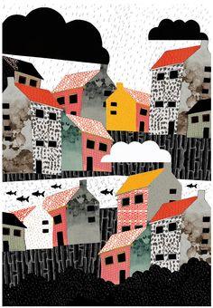 Illustration: Petra Ferwerda - vissersdorp