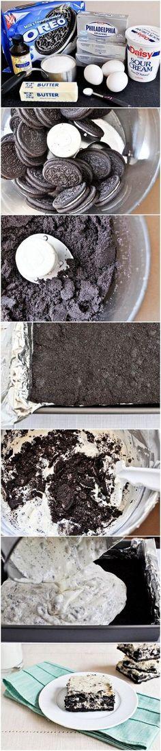 Cookies and Cream Cheesecake Bars   Foodboum