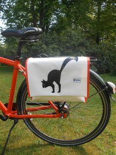 Schultertaschen - Fahrradtasche, Umhängetasche, Satteltasche, toll - ein Designerstück von tania68 bei DaWanda