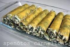 nyárikonyha: Spenót olaszul – Spenótos cannelloni Hungarian Recipes, Hungarian Food, Spanakopita, Nutella, Food And Drink, Cooking, Ethnic Recipes, Foods, Kitchen