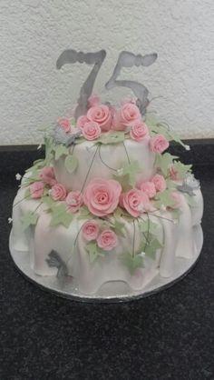 75th birthday cake Ds board Pinterest 75th birthday cakes