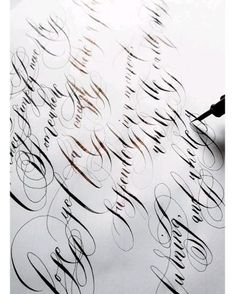 Beautifully, traditional calligraphy with lots of modern calligraphy flourishes, perfect for luxury wedding vows and calligraphy wedding stationery. Perfect for a fine art wedding at Lake Como, Italy. Calligraphy Wedding Stationery, Modern Calligraphy, Wedding Invitations, Lettering Design, Branding Design, Calligraphy Alphabet Tutorial, Improve Your Handwriting, Como Italy, Handwritten Letters