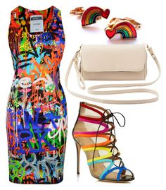 Untitled #816 by wanaramlli on Polyvore featuring Moschino, Salvatore Ferragamo and Charlotte Russe