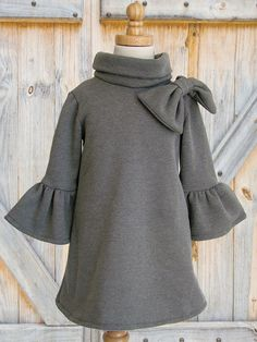 Girls Dress, PDF sewing pattern, Childrens Kids clothing pattern, Stretch Pattern, The Elke Dress. $6.95, via Etsy.